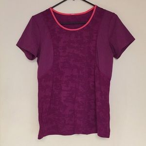 Lululemon purple camo light weight tee